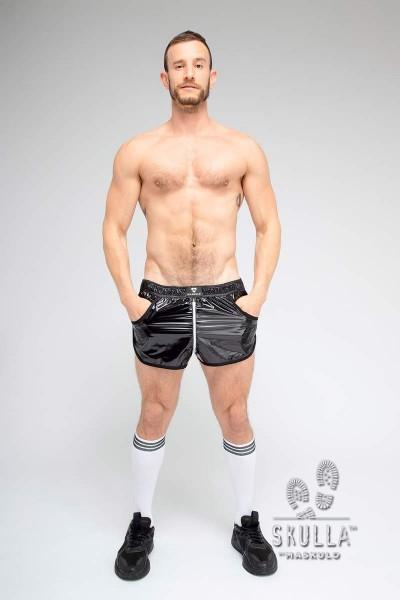 MASKULO S. Joggingshorts aus dünnem Nylon - Black/White