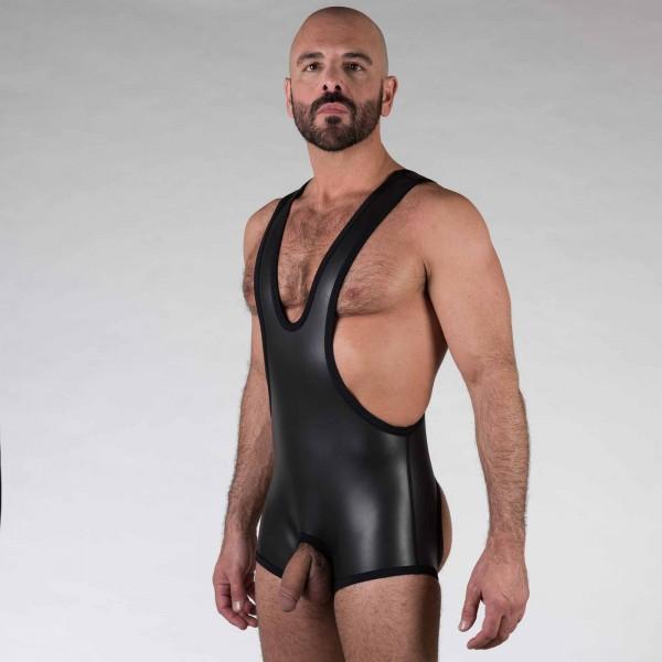 Neoprene Open Crotch Wrestling - Black