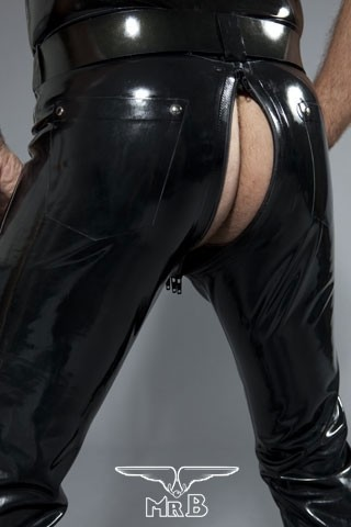 Mister B Rubber Jeans With Full Zip