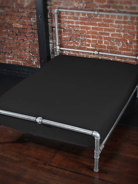 Sheets of SF Fitted Sheet 160 x 200 x 25 cm - Black
