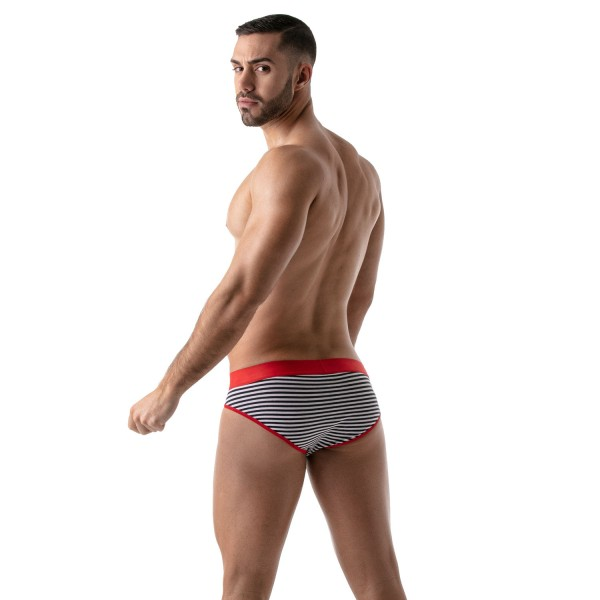 TOF - STRIPES PUSH-UP BRIEF - NAVY-RED