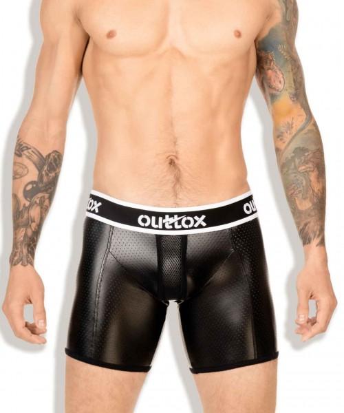 OUTTOX - Radler Short mit gewickeltem Hintern - Schwarz/Weiß