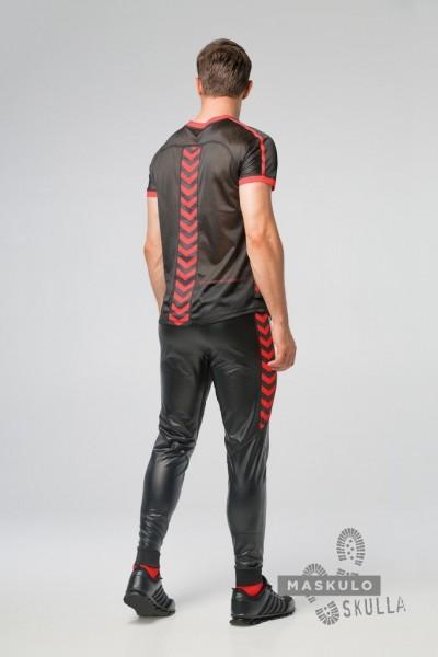 MASKULO S. Fetish Mesh T-Shirt - Black/Red
