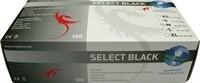Box Schwarze Latexhandschuhe 100 Pcs