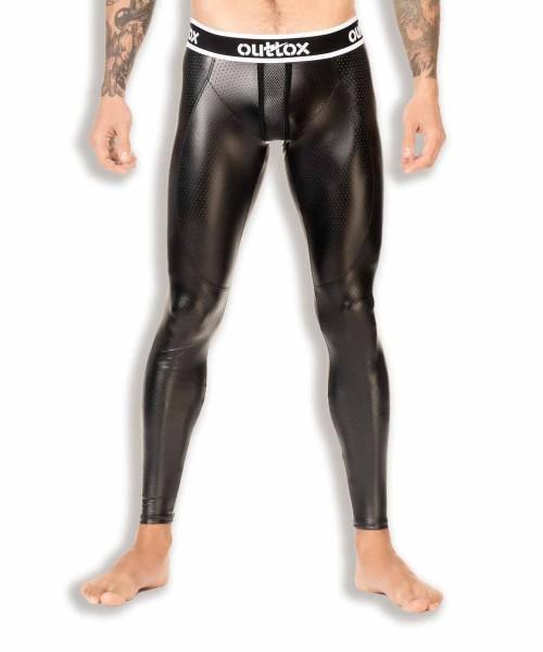OUTTOX - Leggings mit Reißverschluss hinten - Schwarz Weiß