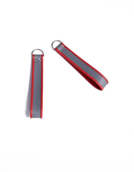 Mister B Ankle Sling Loops Grey With Red Piping