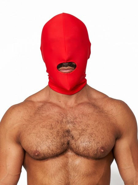 Mister B Lycra Hood Mouth Open Only Red