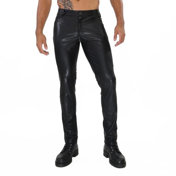 TOF - FETISH FULL ZIP PANTS - BLACK