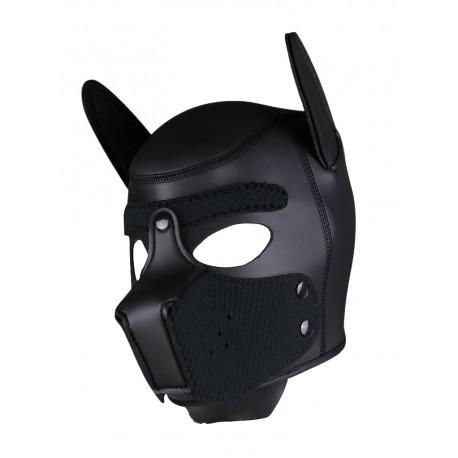 Neoprene Puppy Hood - Black/Black - One Size