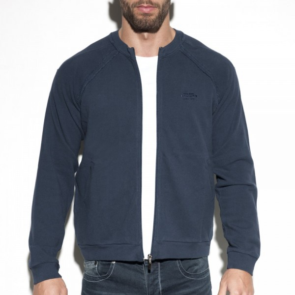 ES - COTTON KNIT JACKET- Navy